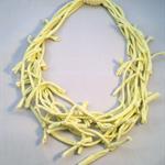 Yellow T-shirt Necklace Multi-strand Upcycled Jersey Fabric Mum friendly Light